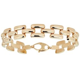 Panther Link Bracelet in Italian 14K Yellow Gold