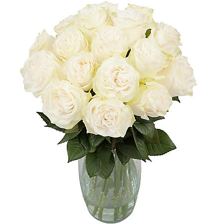 Purity Garden Rose Bouquet