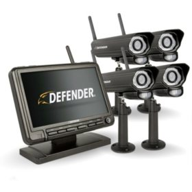 "Defender® PHOENIXM2 Digital Wireless 7"" Security System with 4 Cameras"