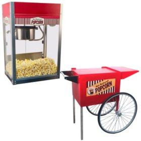 Paragon Vintage Pop Popcorn Machine - 8 oz. + Free Vintage Pop Popcorn Cart (Medium)