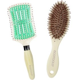 EcoTools Paddle and Travel Detangler Hairbrush Set