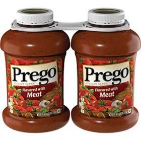 Prego Italian Flavored Meat Sauce (67 oz., 2 pk.)