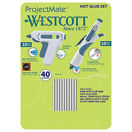 Westcott Hot Glue Set, (Choose Your Color)