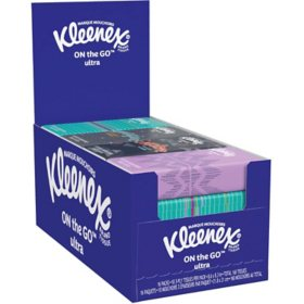Kleenex Facial Tissues, On-The-Go Pack (10 Tissues per Pack, 48 pks total)