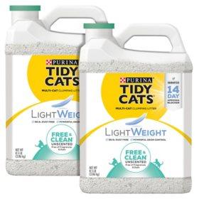 Purina Tidy Cats Lightweight Free & Clean Clumping Cat Litter Bundle (8.5 lbs., 2 pk.)