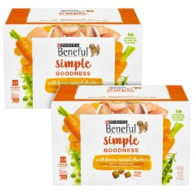 Purina Beneful Simple Goodness with Farm-Raised Chicken Adult Dry Dog Food (64 Stay-Fresh Pouches)