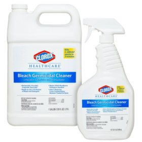 Clorox Healthcare Bleach Germicidal Cleaner (32 oz. Spray Bottle with 1 Gallon Refill)