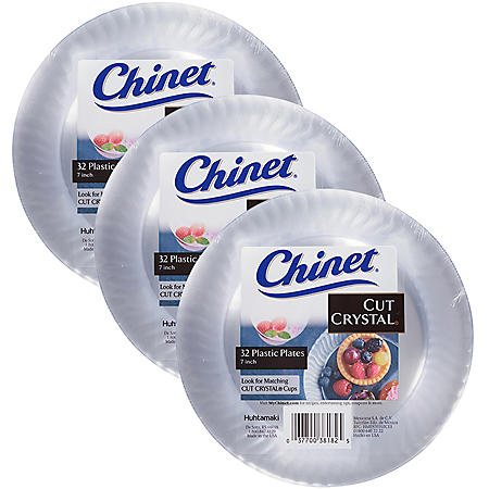 """Chinet Cut Crystal 7"""" Plate (3 sets of 32 each, total of 96 ct.)"""