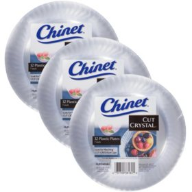 "Chinet Cut Crystal 7"" Plate (3 sets of 32 each, total of 96 ct.)"
