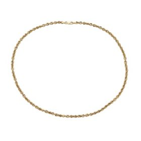 14K Yellow Gold Hollow Rope Necklace, 20""