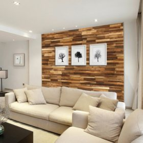 Select Surfaces Acacia Wood Wall Panel (2 Boxes)