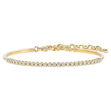 2bd1e83136258 S Collection 1/2 CT. T.W. Diamond Adjustable Chain Bracelet in 14K ...