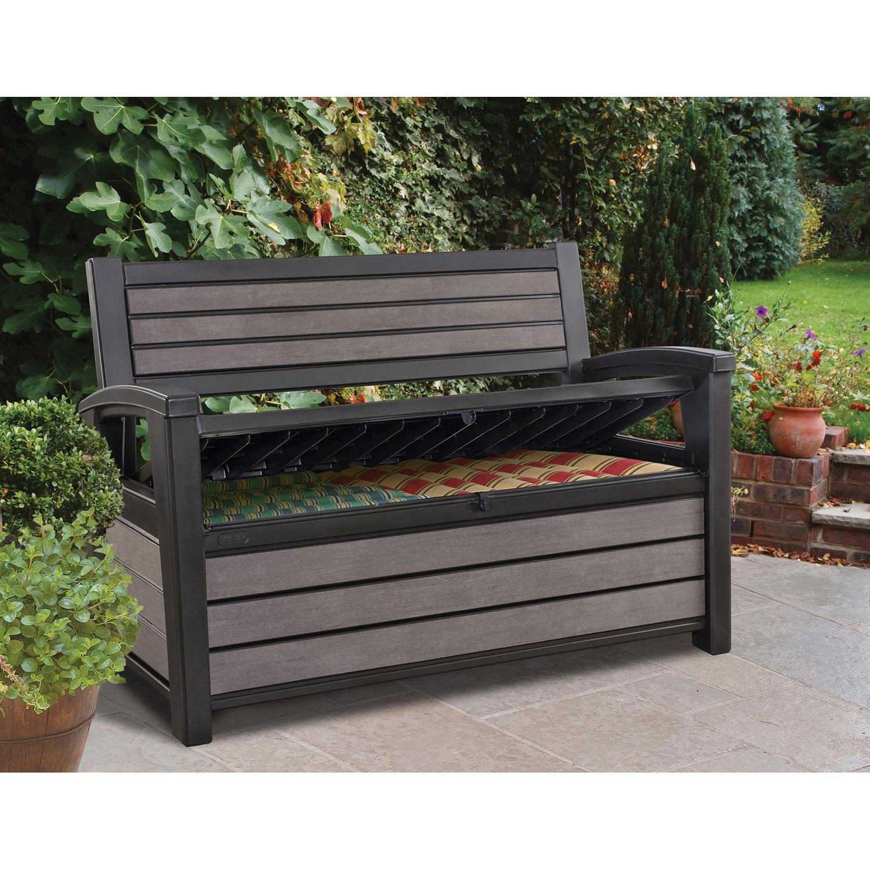 Keter Hudson Plastic Storage Bench 60 Gallon Deck Box