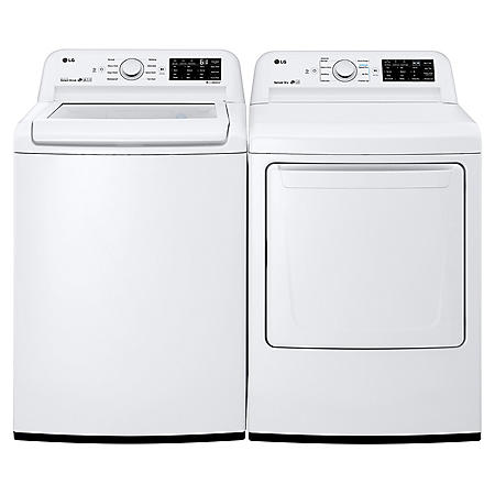 LG 4.5 cu. ft. Top Load Washer & 7.3 cu. ft. Dryer - White