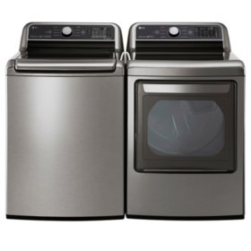 LG 5.0 cu.ft. Top Load Washer & 7.3 cu. ft. Dryer - Graphite Steel