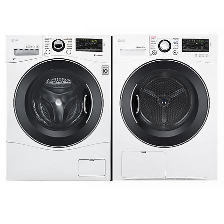 """LG 2.3 cu. ft. 24"""" Compact Front Load Washer & 4.2 cu.ft. Compact Condensing Front Load Dryer - Graphite Steel"""