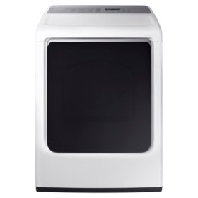 SAMSUNG 7.4-cu ft Gas Dryer with Integrated Controls and Steam Cycle, White - DVG54M8750W