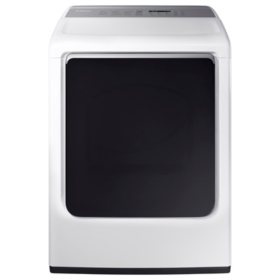 SAMSUNG 7.4-cu ft Electric Dryer with Integrated Controls and Steam Cycle, White - DVE54M8750W