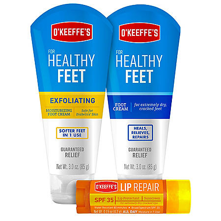 O'Keeffe's Healthy Feet and Lip Repair Variety Set