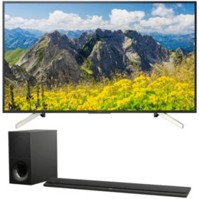 "SONY BRAVIA® 65"" Class 750F Series 4K HDR Smart TV (KD65X750F) and Sony 2.1 Channel 350W Soundbar with Wireless Subwoofer (HTCT800)"