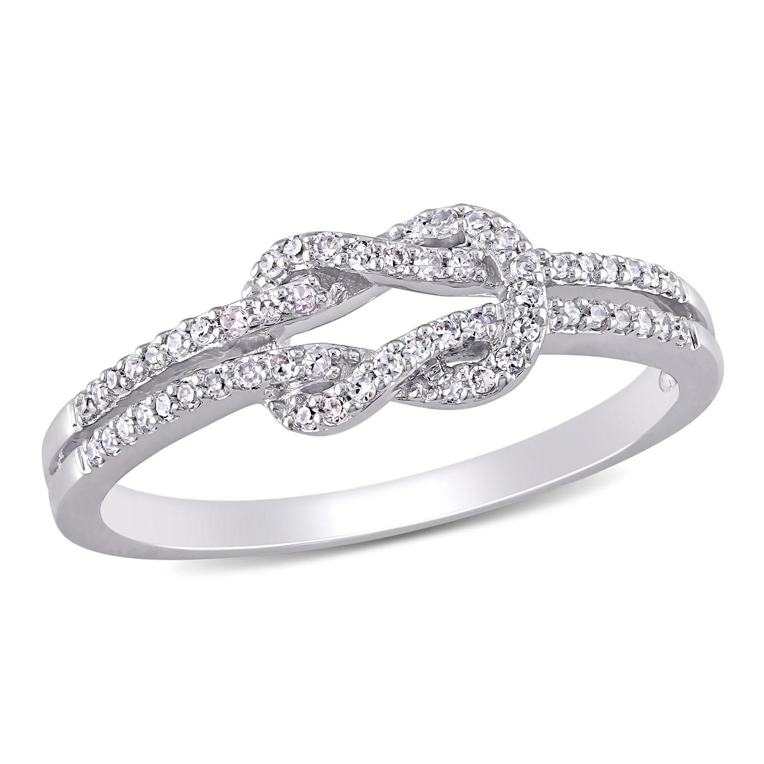 0.16 CT. T.W. Diamond Double Knot Ring in 14K Gold
