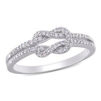 0.13 CT. T.W. Diamond Double Knot Ring in 14k Gold