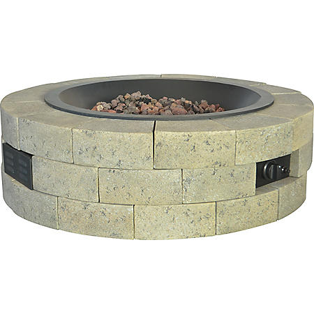 """35"""" Round Gas Fire Table"""