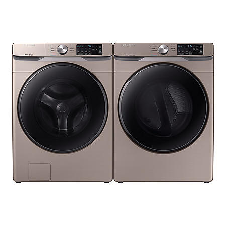 SAMSUNG 4.5 cu. ft. Front Load Washer & 7.5 cu. ft. Dryer - Champagne