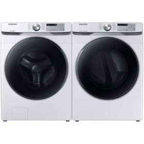 Samsung Side-by-Side Laundry Pair in White