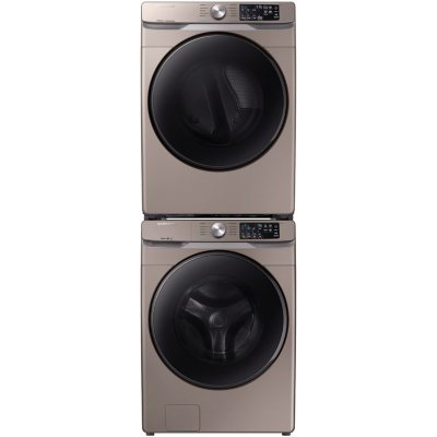 Samsung Stackable 4 5 Cu Ft Front Load Washer 7 5 Cu Ft Dryer Champagne Sam S Club