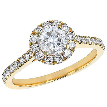 S Collection Bridal 1.25 CT. T.W. Diamond Halo Ring in 14K Gold (I1, H-I)