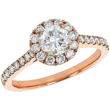 S Collection Bridal 1.25 CT. T.W. Diamond Halo Ring in 14K Gold (SI2, H-I)