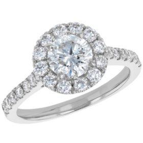 S Collection Bridal 1.75 CT. T.W. Diamond Halo Ring in 14K Gold (I1, H-I)