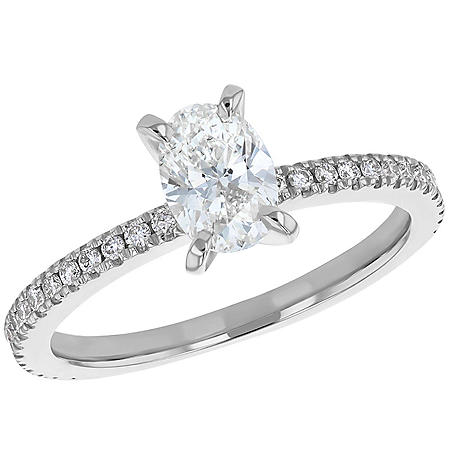 S Collection Bridal 1 CT. T.W. Oval Diamond Ring In 14K Gold (SI2, H-I)