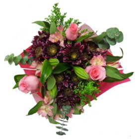 Pink Cheer Mixed Pom Bouquet (15 stems, Vase Not Included)
