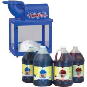 Gold Medal Sno King Kone Machine + FREE Sno-Kone Syrup Combo Pack (Cherry & Blue Raspberry)