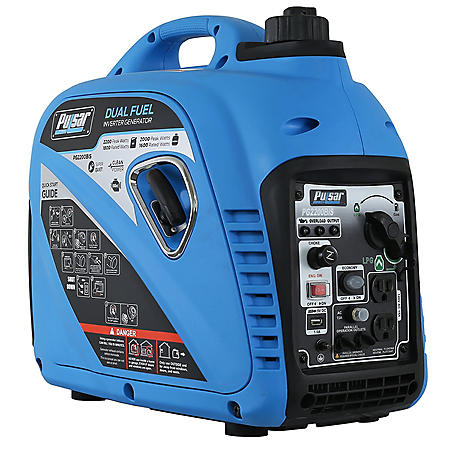 Pulsar 2 000 2 200 Watt Dual Fuel Gasoline Propane Powered Inverter Generator Carb Compliant Sam S Club