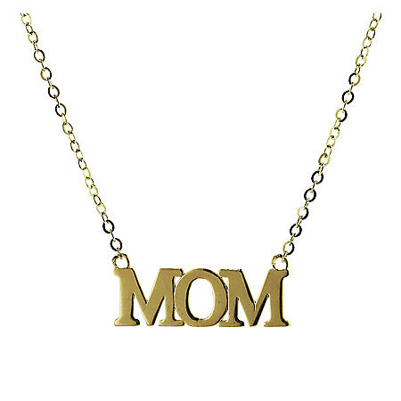 14K Gold Mom Necklace, 18""