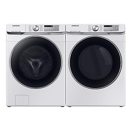 SAMSUNG 4.5 cu. ft. Front Load Washer & 7.5 cu. ft. Dryer - White