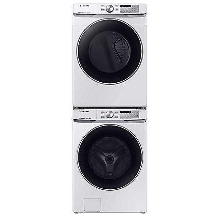 SAMSUNG Stackable 4.5 cu. ft. Front Load Washer & 7.5 cu. ft. Dryer - White