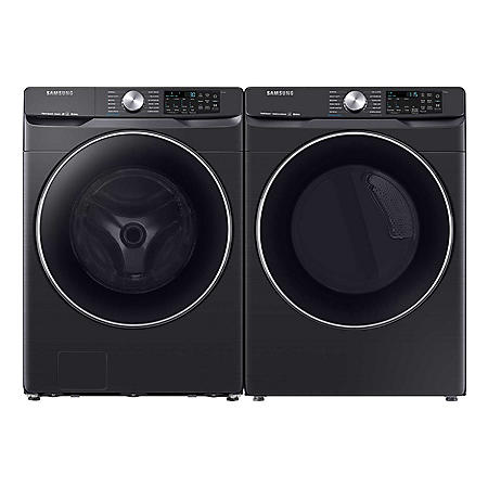 SAMSUNG 4.5 cu. ft. Front Load Washer & 7.5 cu. ft. Dryer - Black Stainless Steel