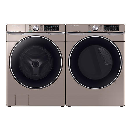 SAMSUNG 4.5 cu. ft. Front Load Washer & 7.5 cu. ft. Dryer - Chamapgne