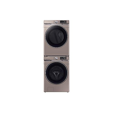 SAMSUNG Stackable 4.5 cu. ft. Front Load Washer & 7.5 cu. ft. Dryer - Chamapgne