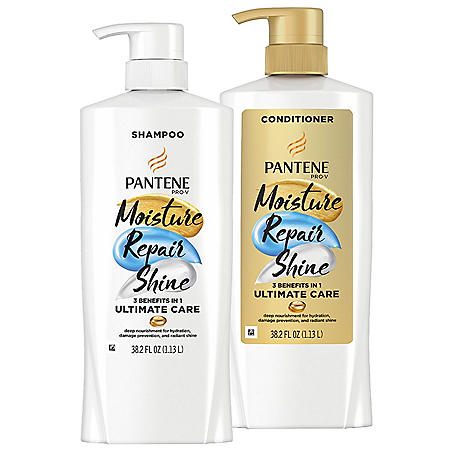 Pantene Pro-V Ultimate Care Moisture Shampoo and Conditioner (38.2 fl. oz., 2 pk.)