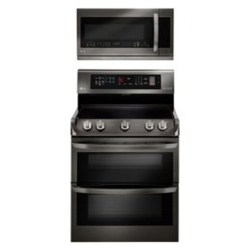 LG 2pc Kitchen Suite in Black Stainless Steel