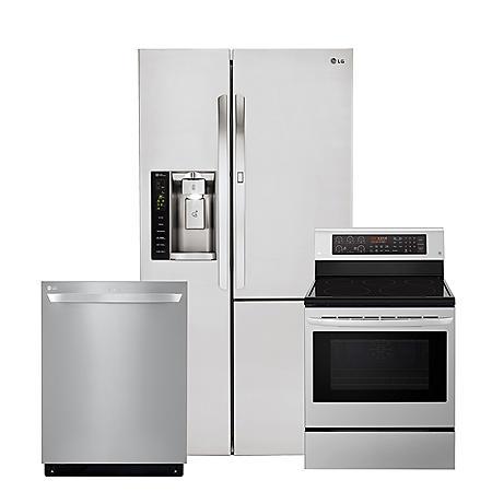 LG 3pc Kitchen Suite with Door-in-Door Refrigerator in Stainless Steel