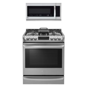 LG 2pc Kitchen Suite in Stainless Steel