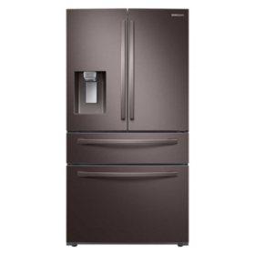 SAMSUNG 4-Door French Door Refrigerator with FlexZone™ Drawer, Fingerprint Resistant Tuscan Stainless Steel - RF28R7201DT - (CHOOSE: Depth, Display)