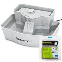 Premier Pet 100 Ounce Pet Water Fountain + Carbon Replacement Filters (4 pk.)