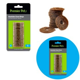 Premier Pet Rawhide Chew Ring Replacements, Small (48 ct.)